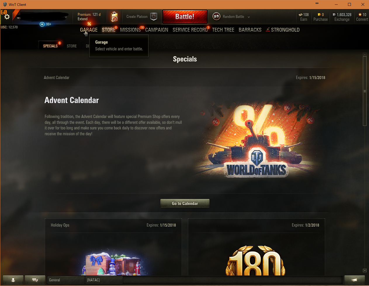 WOT Aslain Mods Installed - Garage tab Not Working - Issues & bug