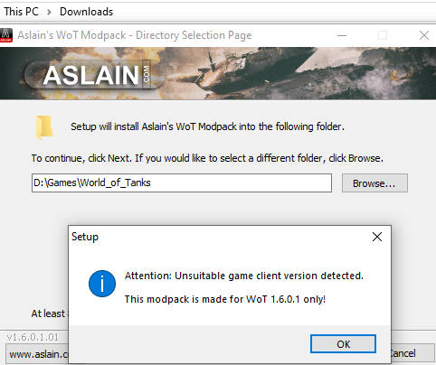 Can't install update - Issues & bug reporting - Aslain com